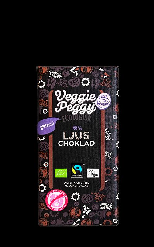 Ljus choklad Veggie Peggy vegansk laktosfri