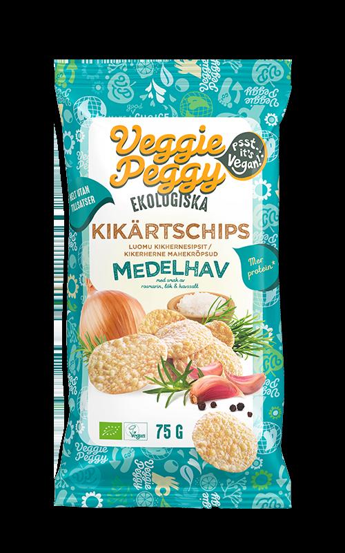 Kikartschips Smak av Medelhav Veggie Peggy