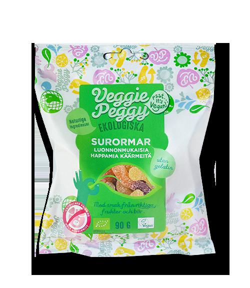 Veggie Peggy vegansk laktosfri gelatinfritt godis surormar