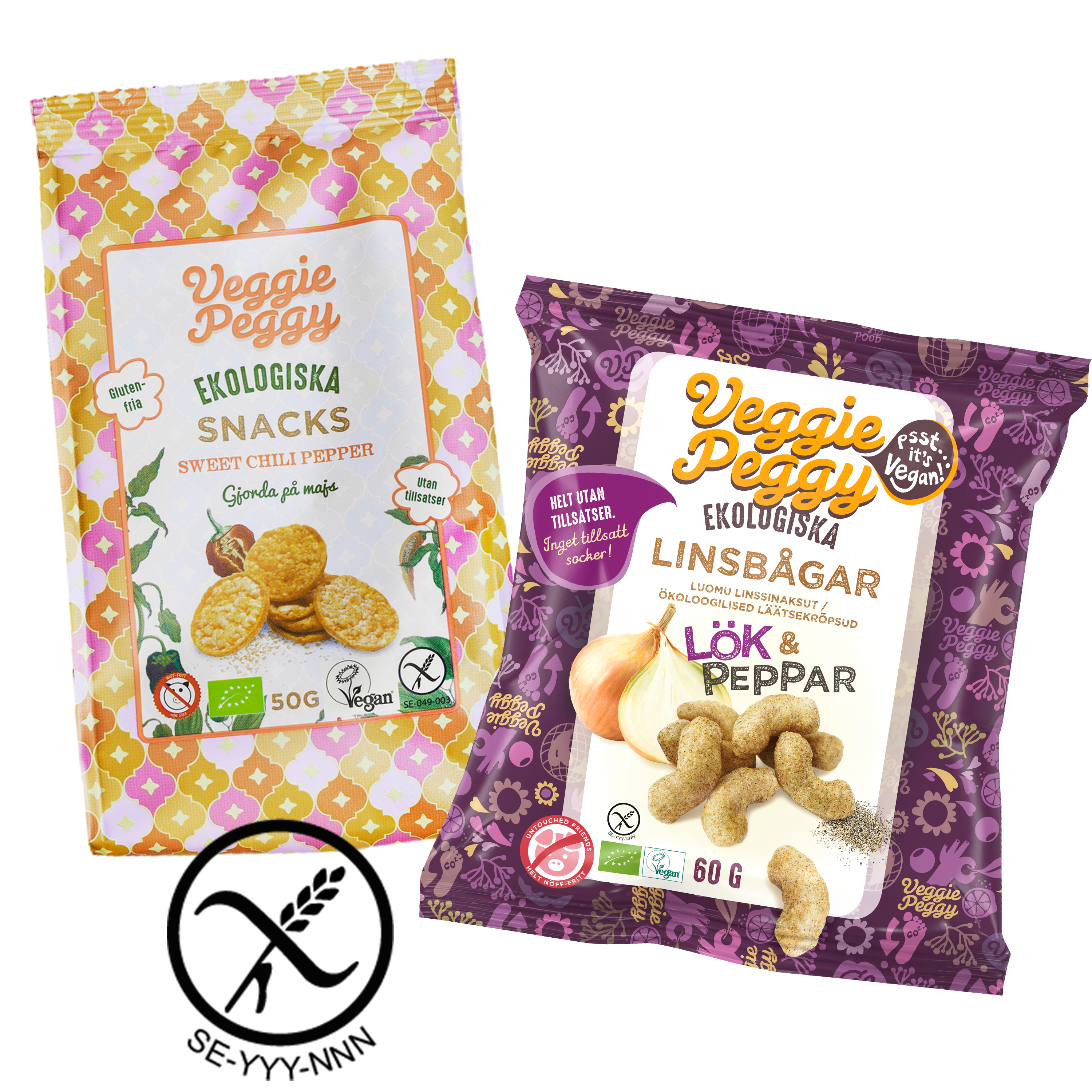 Veggie Peggy snacks celiaki