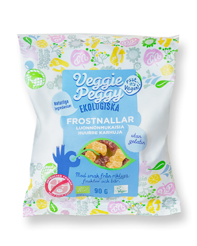 Gelatinfritt godis Veggie Peggy frostnallarveganskt