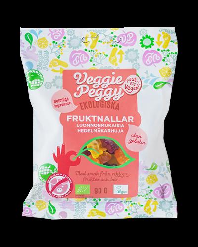 Gelatinfritt godis Veggie Peggy Fruktnallar veganskt
